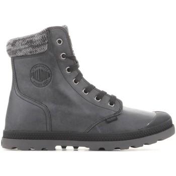 kengät Naiset Bootsit Palladium Manufacture Pampa Hi Knit  LP 95172-036-M grey