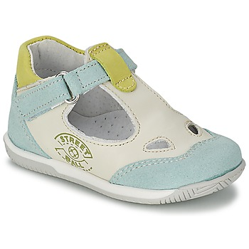 kengät Pojat Sandaalit ja avokkaat Citrouille et Compagnie XOULOU White / Blue / Green