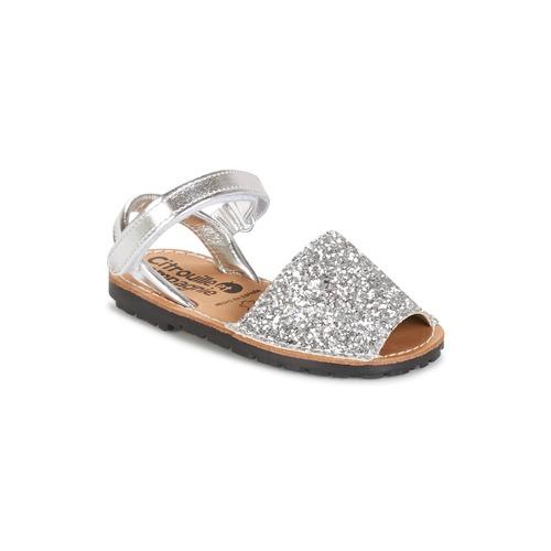 kengät Tytöt Sandaalit ja avokkaat Citrouille et Compagnie SQUOUBEL Hopea
