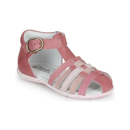 kengät Tytöt Sandaalit ja avokkaat Citrouille et Compagnie VISOTU Pink / Multicolour
