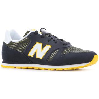 kengät Naiset Matalavartiset tennarit New Balance KD373NRY black, white, yellow