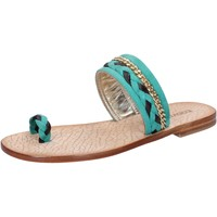 kengät Naiset Sandaalit ja avokkaat Eddy Daniele sandali verde camoscio marrone pelle ax720 Verde