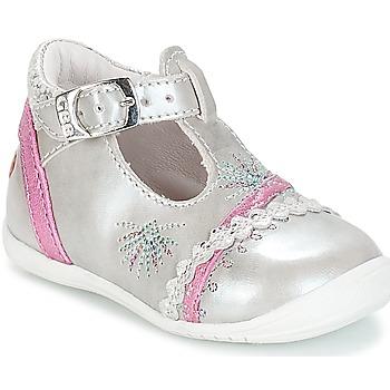 kengät Tytöt Balleriinat GBB MARINA Hopea-fuksia / Dpf / Kezia