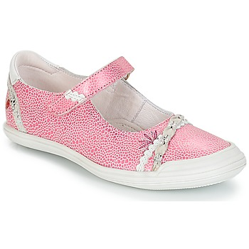 kengät Tytöt Balleriinat GBB MARION Vaaleanpunainen/valkoinen / Dpf