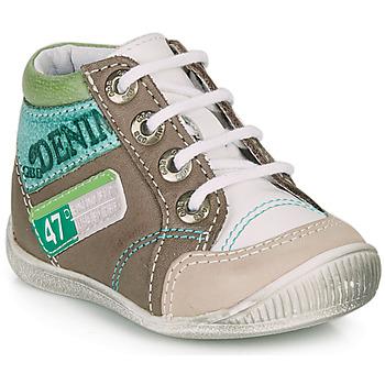 kengät Pojat Bootsit GBB PANCRACE White / Green / Taupe