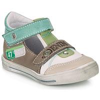 kengät Pojat Sandaalit ja avokkaat GBB PEPINO White / Green / Taupe
