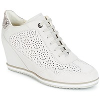 kengät Naiset Korkeavartiset tennarit Geox D ILLUSION White