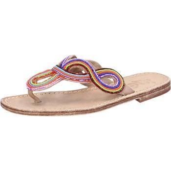 kengät Naiset Sandaalit ja avokkaat Eddy Daniele sandali multicolor pelle perline ax895 Multicolore