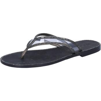 kengät Naiset Sandaalit ja avokkaat Eddy Daniele sandali grigio pelle nero plastica swarovski aw682 Grigio