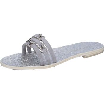 kengät Naiset Sandaalit ja avokkaat Eddy Daniele sandali grigio camoscio swarovski aw236 Grigio