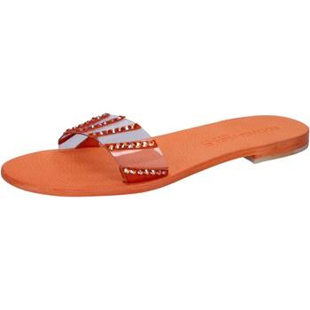 kengät Naiset Sandaalit ja avokkaat Eddy Daniele sandali arancione plastica swarovski aw449 Arancio