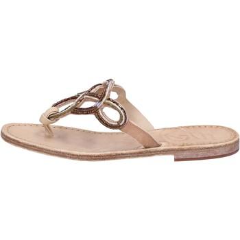 kengät Naiset Sandaalit ja avokkaat Eddy Daniele sandali cuoio pelle perline AS78 Marrone