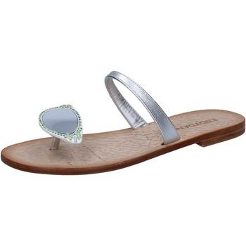 kengät Naiset Sandaalit ja avokkaat Eddy Daniele sandali argento pelle swarovski aw216 Argento