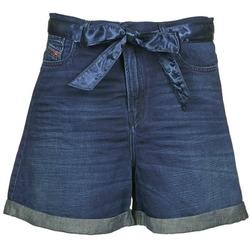 vaatteet Naiset Shortsit / Bermuda-shortsit Diesel DE-KAWAII Blue / Fonce