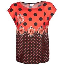vaatteet Naiset Lyhythihainen t-paita Alba Moda BETTINA Red / Black