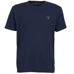 vaatteet Miehet Lyhythihainen t-paita Gant SOLID Laivastonsininen