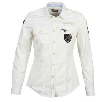 vaatteet Naiset Paitapusero / Kauluspaita Napapijri GLENDA White