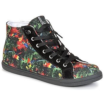 kengät Naiset Korkeavartiset tennarit Love Moschino JA15132G0KJE0000 Black / Multicolour