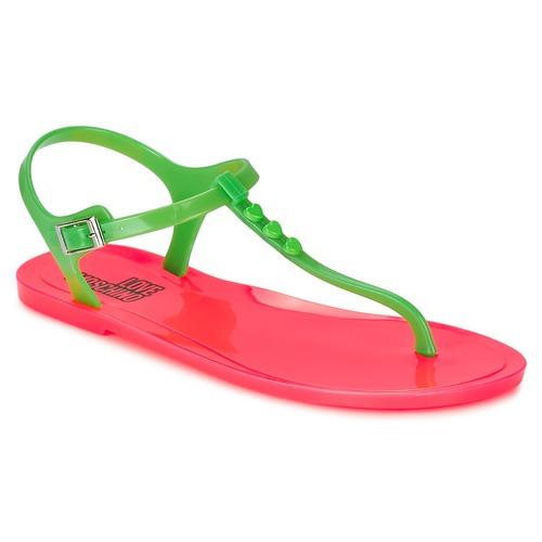 kengät Naiset Sandaalit ja avokkaat Love Moschino JA16381G0KJN180A Vihreä / Vaaleanpunainen