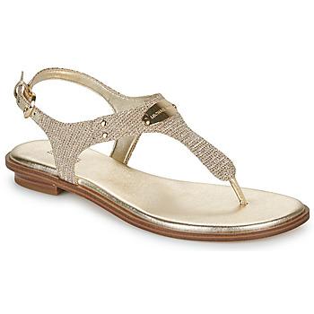 kengät Naiset Sandaalit ja avokkaat MICHAEL Michael Kors MK PLATE Kulta