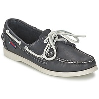 kengät Naiset Purjehduskengät Sebago DOCKSIDES Blue