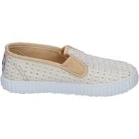 kengät Naiset Tennarit Cienta slip on bianco tessuto oro profumate BX351 Bianco