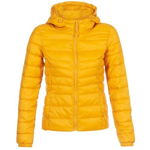 vaatteet Naiset Toppatakki Only ONLTAHOE Yellow