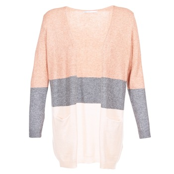 vaatteet Naiset Neuleet / Villatakit Only ONLQUEEN Pink / Grey