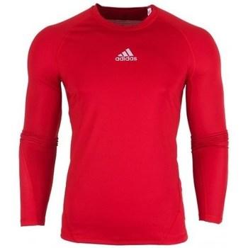 vaatteet Miehet T-paidat pitkillä hihoilla adidas Originals Alphaskin LS Punainen