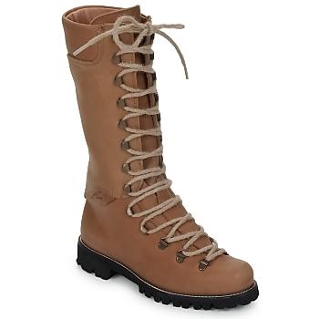kengät Naiset Bootsit Swamp STIVALE LACCI Brown / Clair
