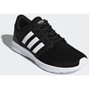 kengät Naiset Matalavartiset tennarit adidas Originals Cloudfoam QT Racer Valkoiset,Mustat