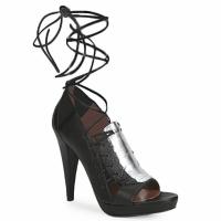 kengät Naiset Sandaalit ja avokkaat Sigerson Morrison STRUZZO Black / Hopea