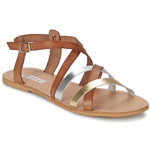 kengät Naiset Sandaalit ja avokkaat So Size AVELA Pähkinä