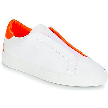 kengät Naiset Matalavartiset tennarit KLOM KISS Valkoinen / Oranssi