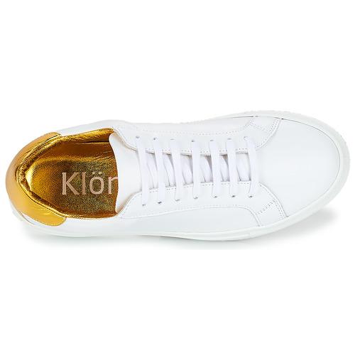 Klom Keep White / Kulta - Ilmainen Toimitus- Kengät Matalavartiset Tennarit Naiset 109
