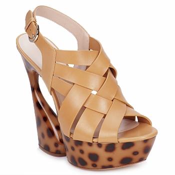 kengät Naiset Sandaalit ja avokkaat Casadei MAGGY SWEET / Luonto