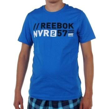 vaatteet Miehet Lyhythihainen t-paita Reebok Sport Actron Graphic Vaaleansiniset