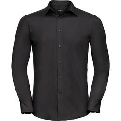 vaatteet Miehet Pitkähihainen paitapusero Russell 924M Black