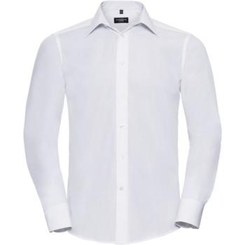 vaatteet Miehet Pitkähihainen paitapusero Russell 924M White