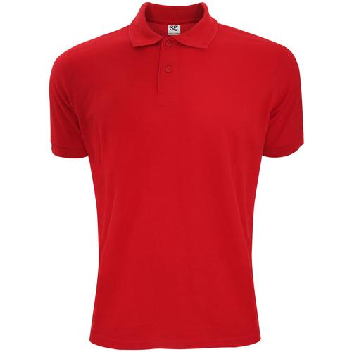 vaatteet Miehet Lyhythihainen poolopaita Sg Polycotton Red