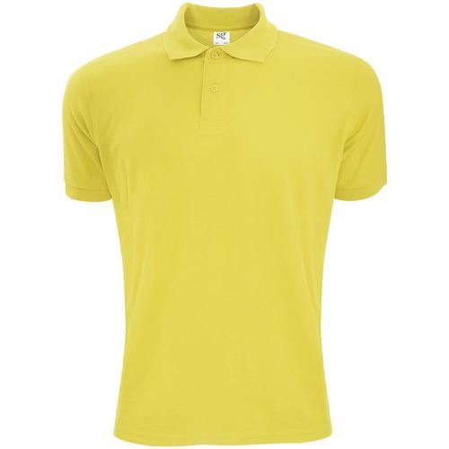 vaatteet Miehet Lyhythihainen poolopaita Sg Polycotton Yellow