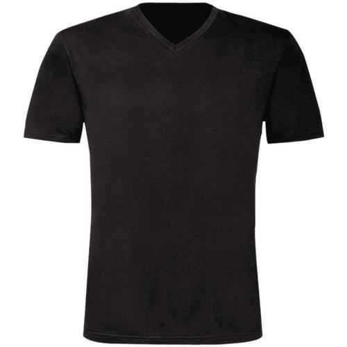 vaatteet Miehet Lyhythihainen t-paita B And C TU006 Black