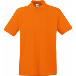 vaatteet Miehet Lyhythihainen poolopaita Fruit Of The Loom 63218 Orange