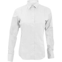 vaatteet Naiset Paitapusero / Kauluspaita Kustom Kit KK388 White