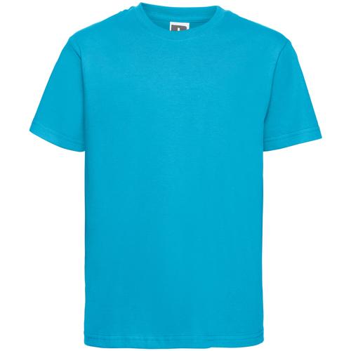vaatteet Miehet Lyhythihainen t-paita Russell R155M Turquoise