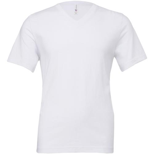 vaatteet Miehet Lyhythihainen t-paita Bella + Canvas CA3005 White