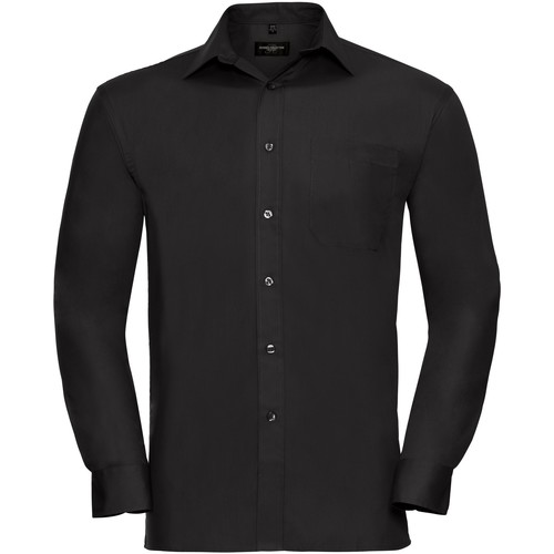 vaatteet Miehet Pitkähihainen paitapusero Russell 936M Black