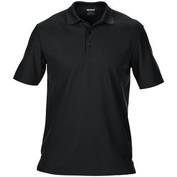 vaatteet Miehet Lyhythihainen poolopaita Gildan 43800 Black