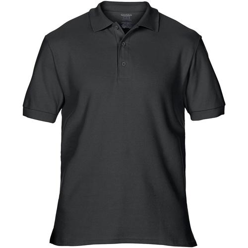 vaatteet Miehet Lyhythihainen poolopaita Gildan Premium Black