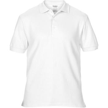vaatteet Miehet Lyhythihainen poolopaita Gildan Premium White